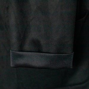 Zara Jackets & Coats - Zara Basic   Faux Suede Loose Blazer - Black, S
